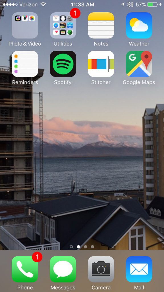 Digital Detox Home Screen